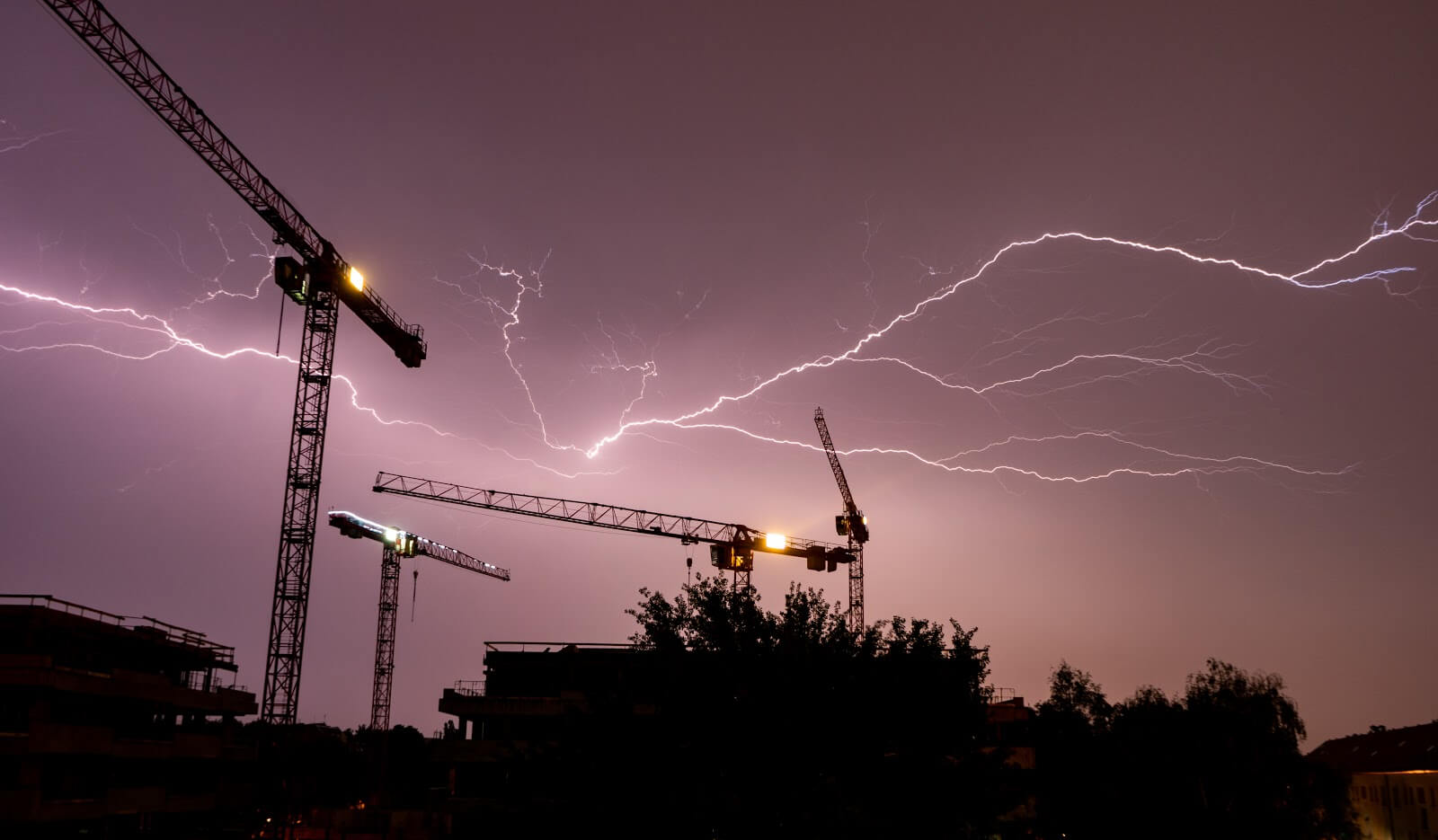 lightning in construction sites
