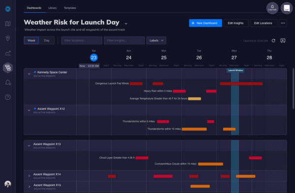 space x weather insight dashboard