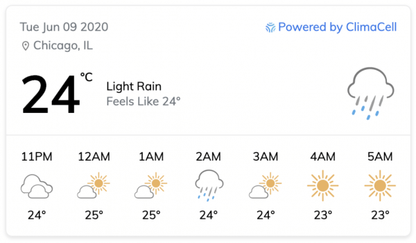 weather api weather widget