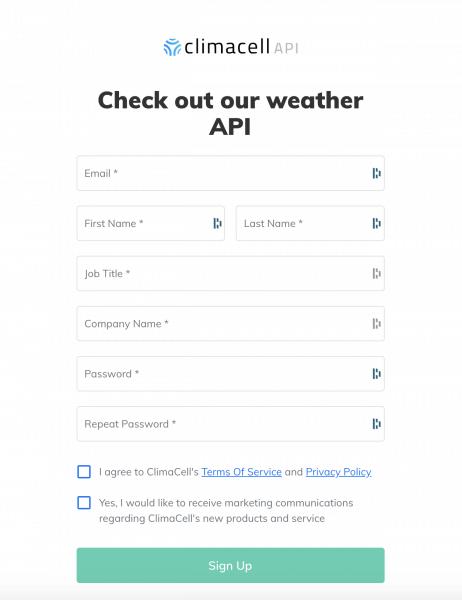 www.tomorrow.io api weather api
