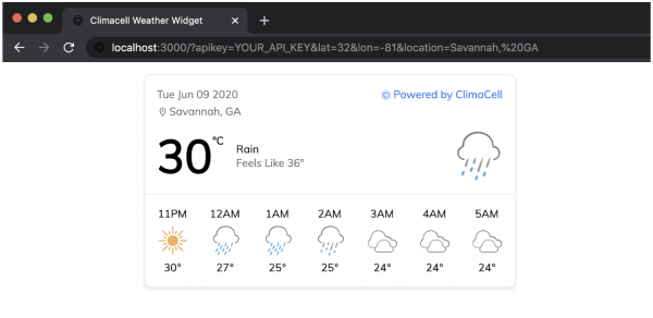 weather widget weather api
