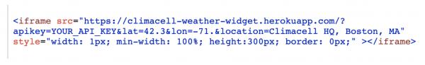 weather api weather widget iframe