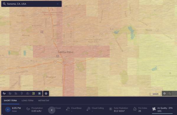 air quality data Tomorrow.io
