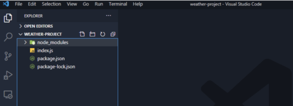 weather app folder structure