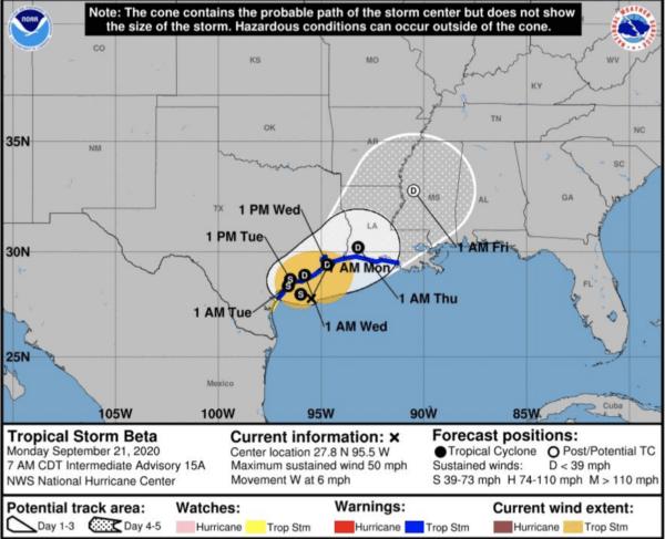 tropical storm beta forecast