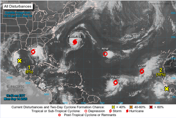 active hurricanes 2020
