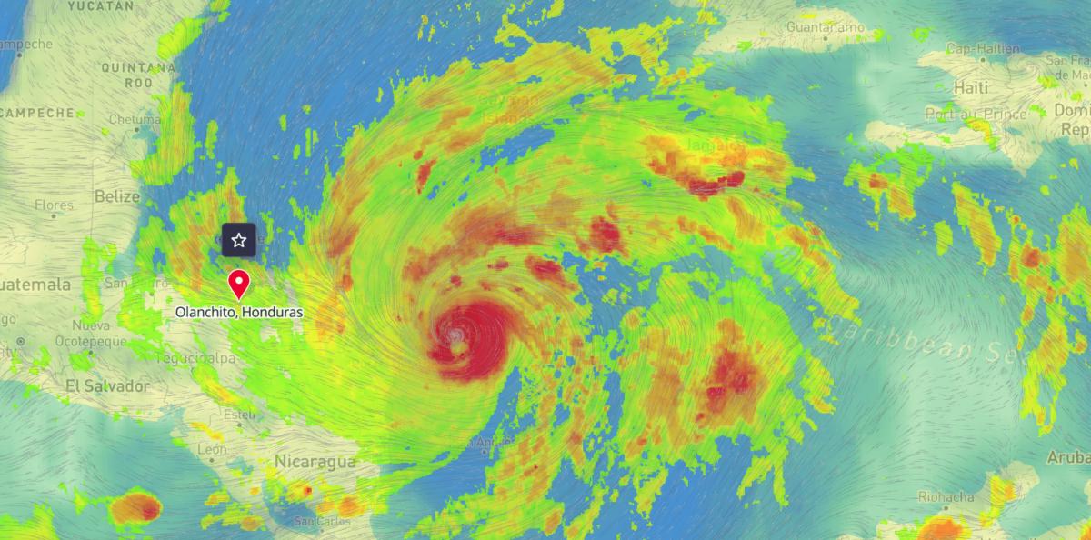 Hurricane Eta Tomorrow.io