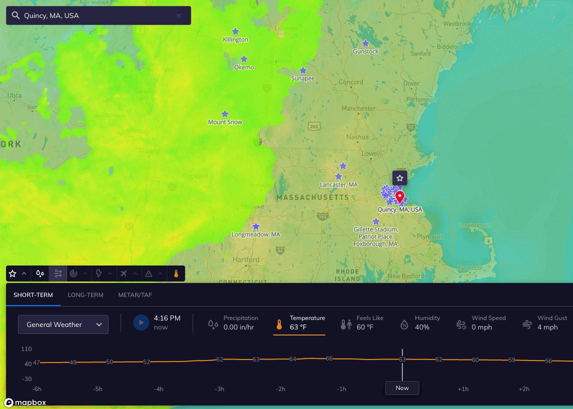 quincy ma weather intelligence platform