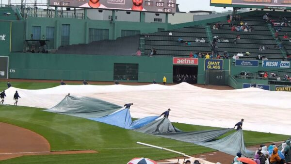 fenway park rolling tarp weather operations