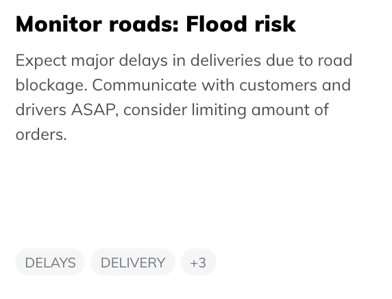 on-demand flood risk
